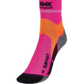X-Socks Run Fast Calze, rosa/arancione